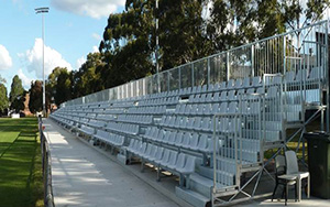 Jensen Park Bankstown Western Grandstand: Portable Stadium Tiered Seating