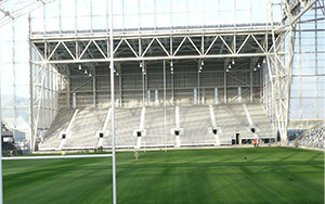 Rugby World Cup, Dunedin, NZ, 2011: Portable Stadium Tiered Seating
