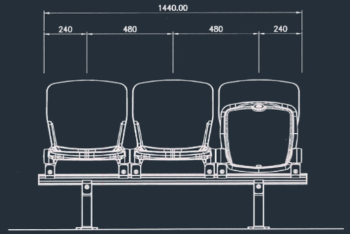 Apollo 2863N/2865N Series | Stadium & Arena Seating