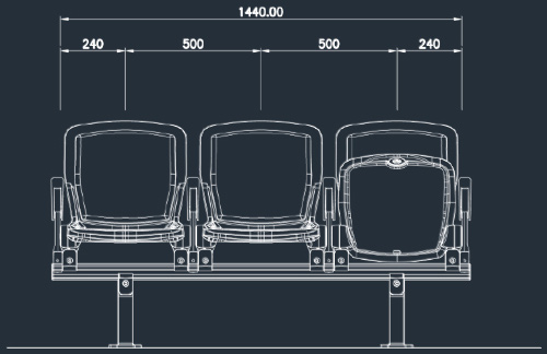 Apollo 2863NS/2865NS Series | Stadium & Arena Seating