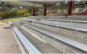 Toowoomba Christian College QLD Fixed Aluminium Bench Seating Installed 2020